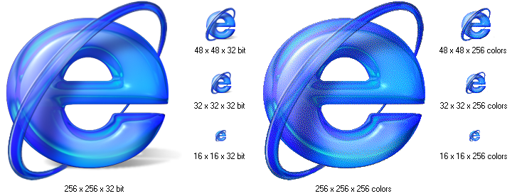 supports 32-bit icons,