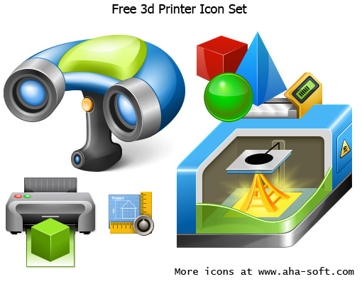 Free 3d Printer Icons