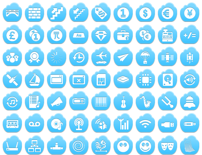 Http Www Aha Soft Com Free Icons Free Blue Cloud Icons