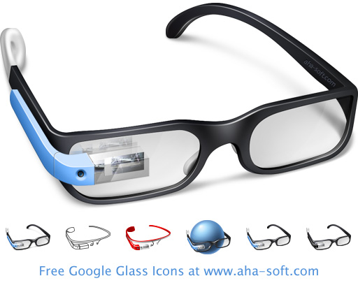 Free Google Glass Icon Set 2013.1 full