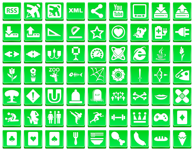 Free Green Button Icons