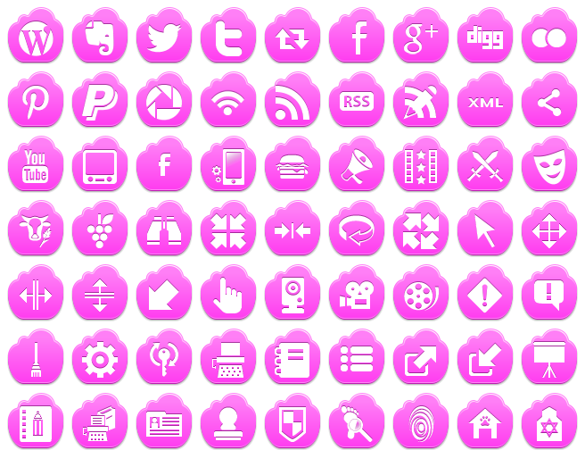 Free Pink Cloud Icons