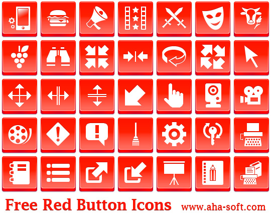 Free Red Button Icons