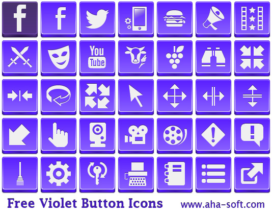 Free Violet Button Icons full screenshot