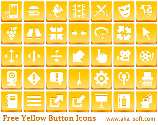 Free Yellow Button Icons