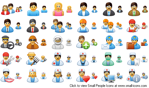 business people icon. Small People Icons