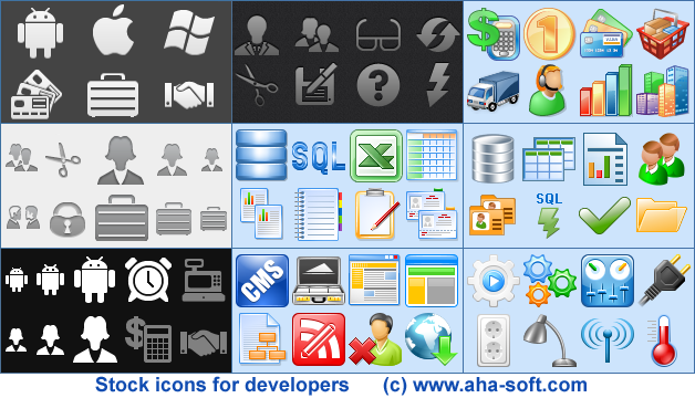 Stock icon files for development