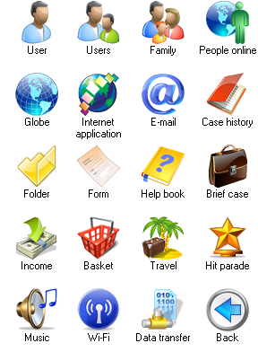 Windows Vista icons