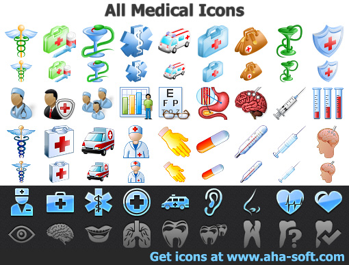 Windows 8 All Medical Icons full