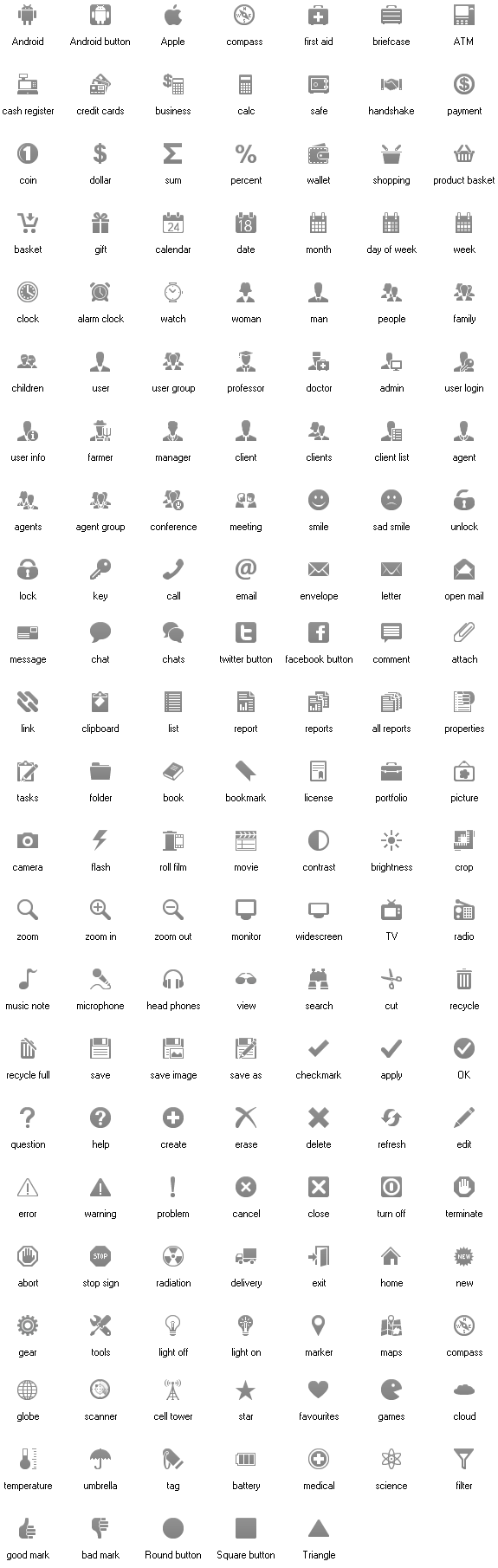Note: These icons are drawn in according to Android Icon Design ...: www.aha-soft.com/stock-icons/android-status-bar-icons.htm