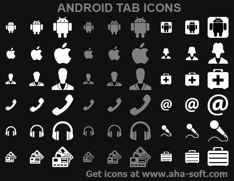 Android Tab Icons full screenshot