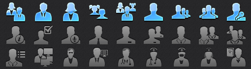 App Tab Bar People Icons