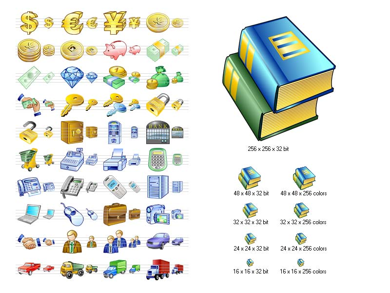 Click to view Business Icon Set 2011.1 screenshot