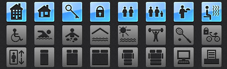 Hotel Tab Bar Icons for iOS