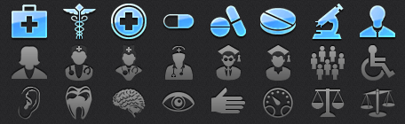 Medical Tab Bar Icons for iOS