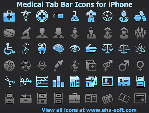 Windows 7 Medical Tab Bar Icons for iPhone 2013.2 full