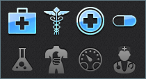 High Resolution Medical Tab Bar Icons for iPhone & iPad