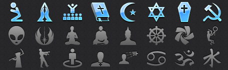 High Resolution App Tab Bar Religious Icons