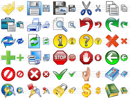 Toolbar Icon Set Screen shot