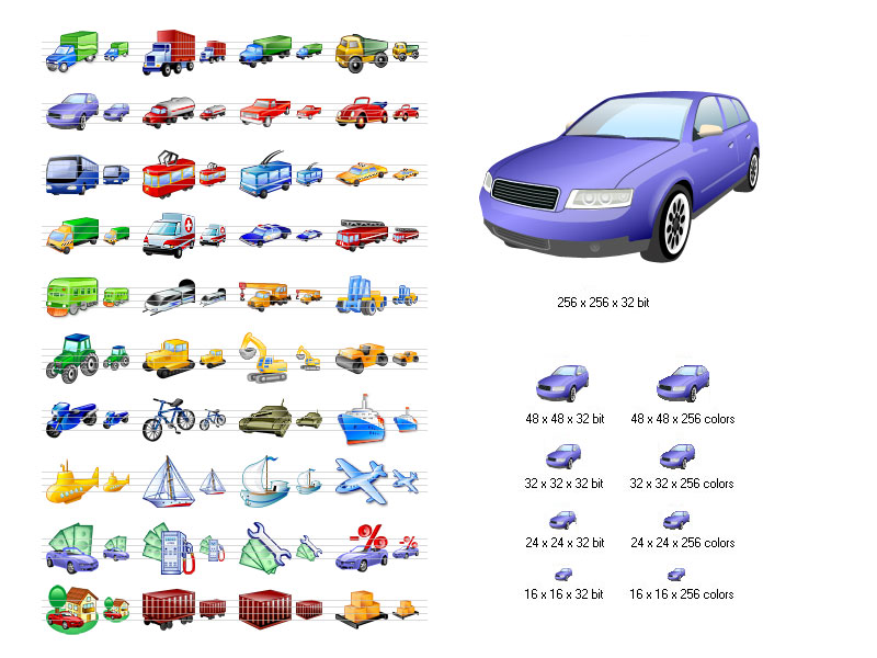 Click to view Transport Icon Set 2011.1 screenshot