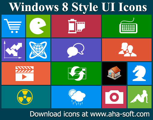 Windows 8 Style UI Icons